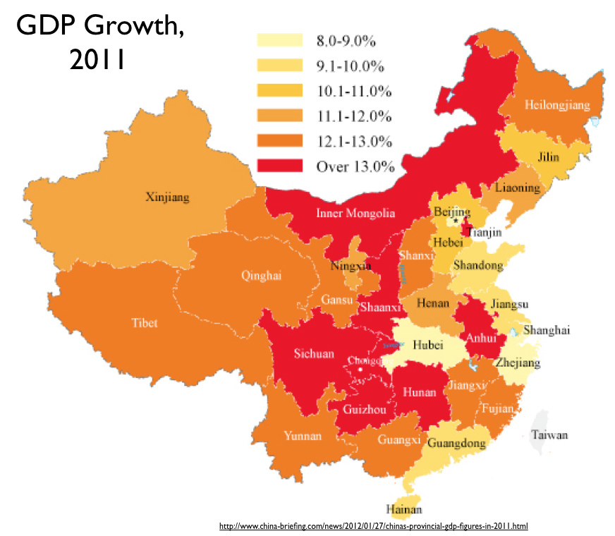 Regional Trends In Chinese Economic Development Geocurrents