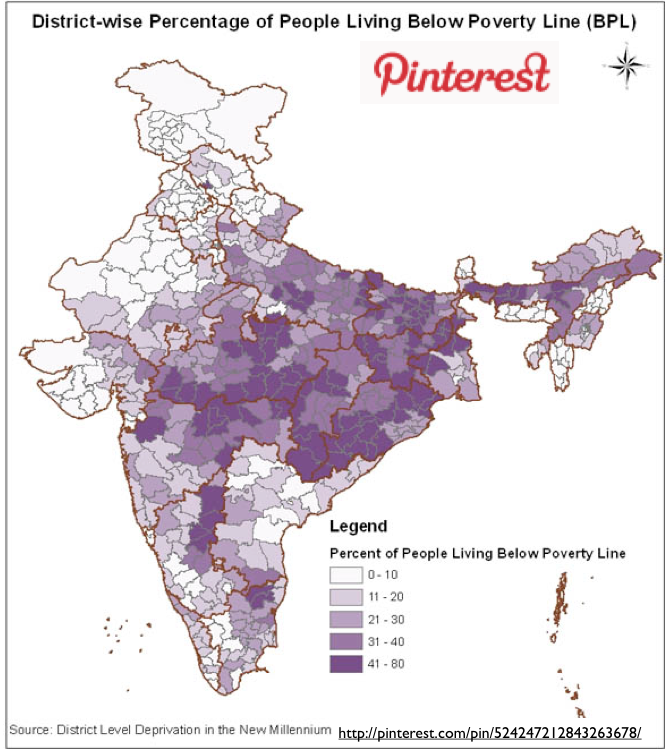Remapping Poverty In India GeoCurrents - Poverty map 2016