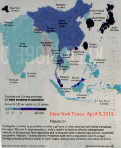 NY Times China Population Cartogram