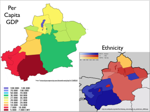 Xinjiang GDP and Ethnicity map