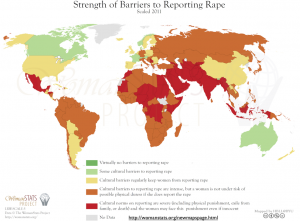 Barriers to Rape Reporting Map