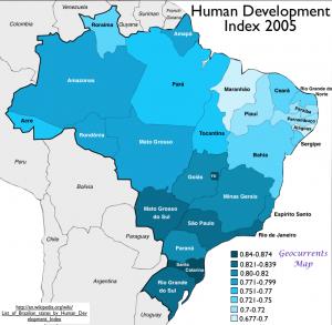 Brazil HDI,2005Map