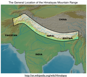 Himalayas Map