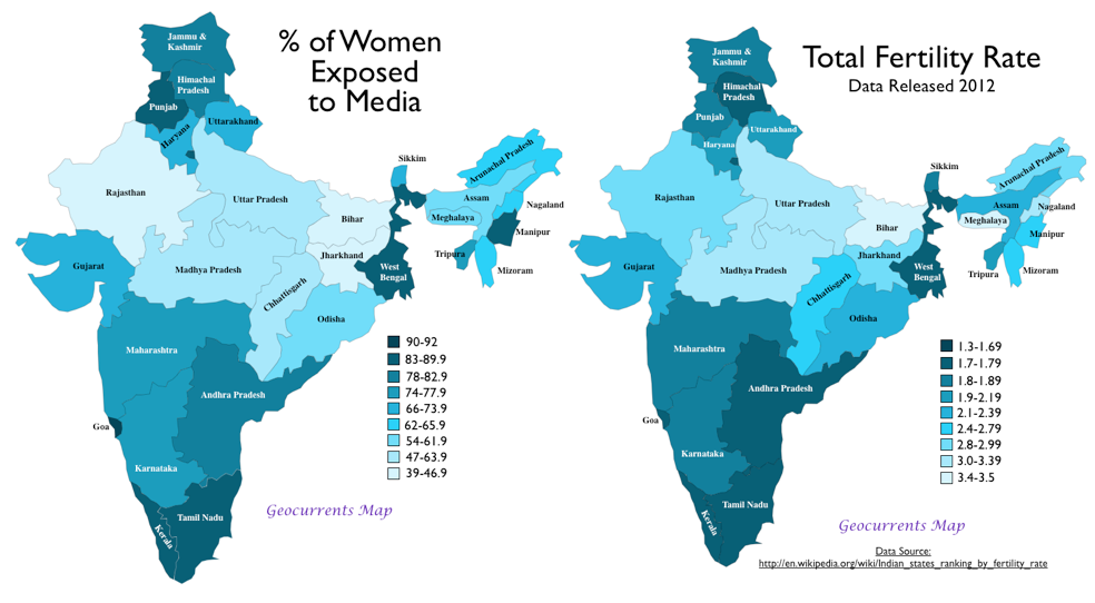 Indias Plummeting Birthrate A TelevisionInduced Transformation - Maps Of Us Television Show Preference