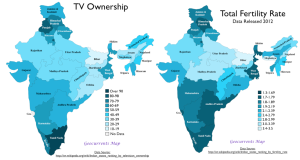 India Fertility TV Ownership Map