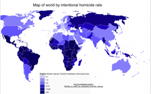 World Murder Rate Map