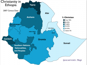Christianity Ethiopia Map