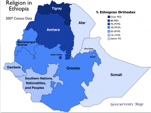 Ethiopian Orthodoxy Map