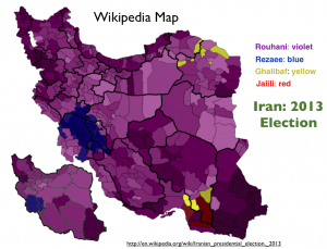 Iran 2013 Election Map