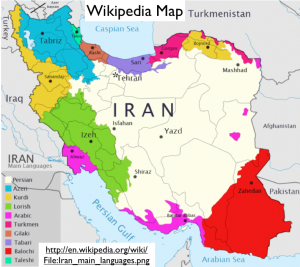 Iran Wikipedia Language Map