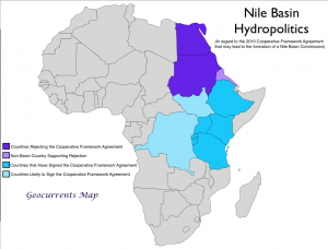 Nile Hydropolitics Map