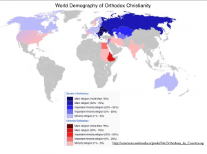 Orthodox Christianity Map