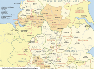 British Administrative Divisions Map Detail