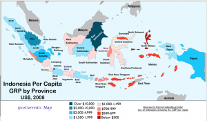 Indonesia GDP by Province Map