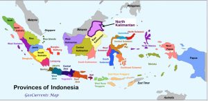 Indonesia provinces North Kalimantan Map