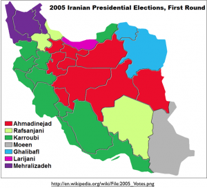 Iran 2005 Election First Round Map