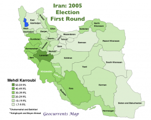 Iran 2005 Karroubi Map