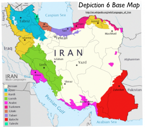 Iran Main Languages Map