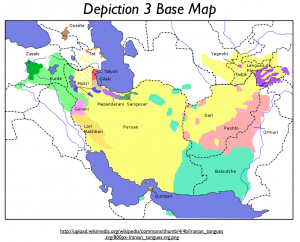 Iranian Tongues Map