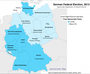 German election 2013 Free Democrats Vote Map
