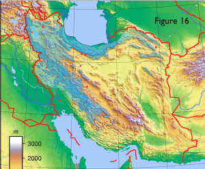 Iran Physical Surplus Precipitation Map