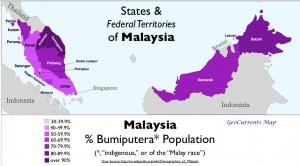 Malaysia Bumiputera Map