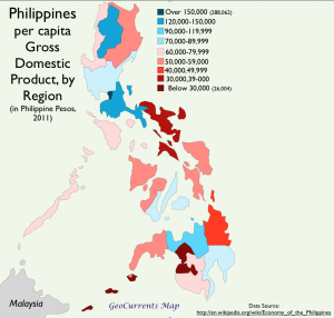 Philippines per capita GDP map
