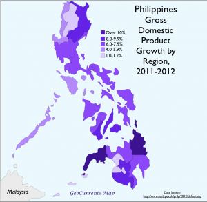 Philippiones Economic Growth Map