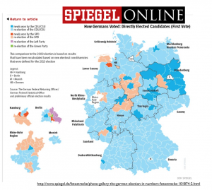 Speigel German Election 2013 Map