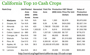 California top cash crops