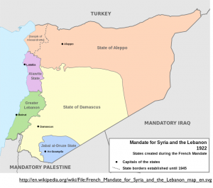 French Mandate of Syria Map