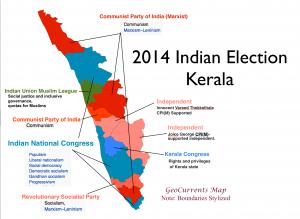 Kerala 2014 Election Map