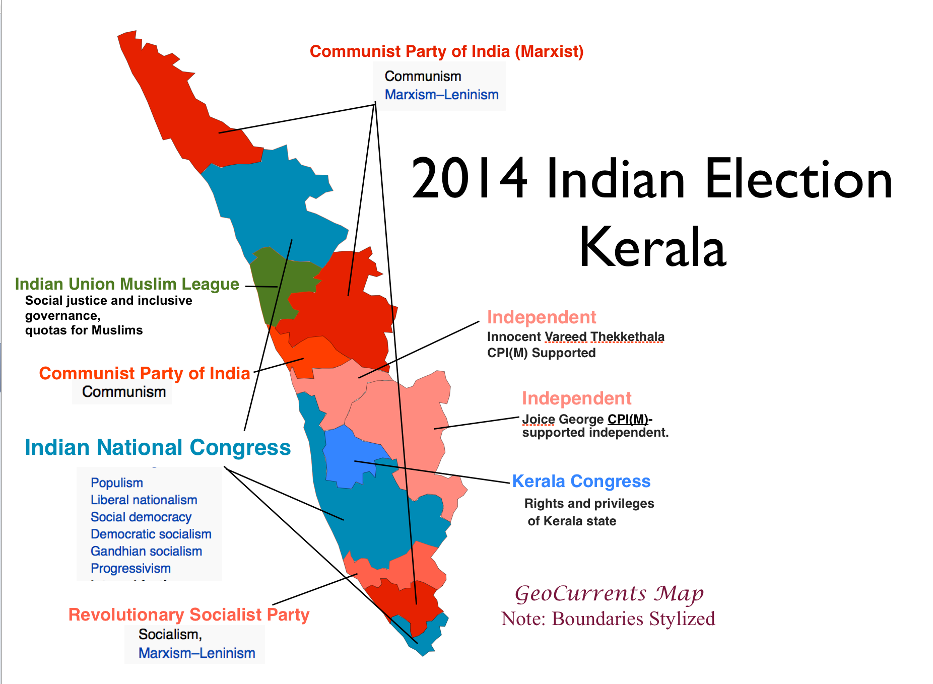 Political Parties By State Map.Geocurrents Maps Of India Geocurrents