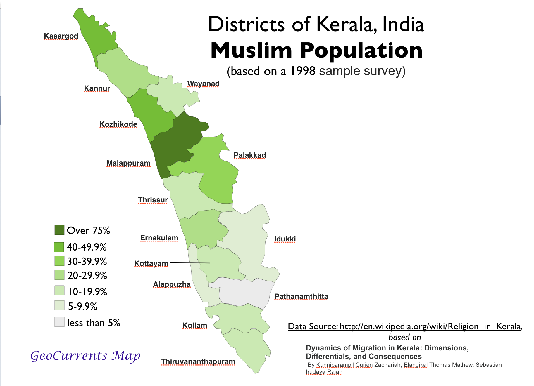 Muslim Population Kerala Map