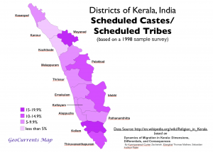 Scheduled Castes Tribes Kerala Map