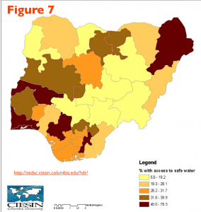 Nigeria Drinking Water Map
