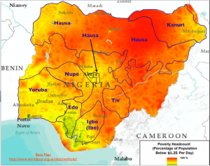 Nigeria Language and Poverty Map