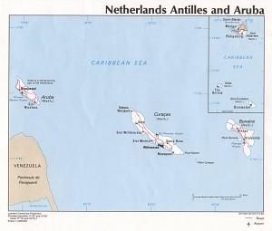 Netherlands Antilles Aruba Political Map