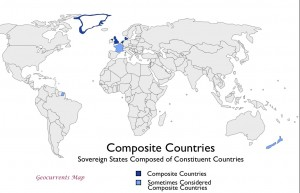 composite countries sovereign states composed of constituent countries