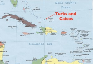 turks and caicos political map