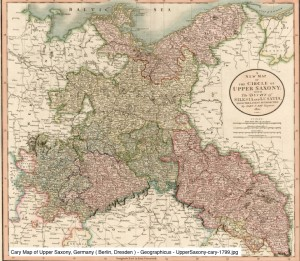 Cary Map of Upper Saxony