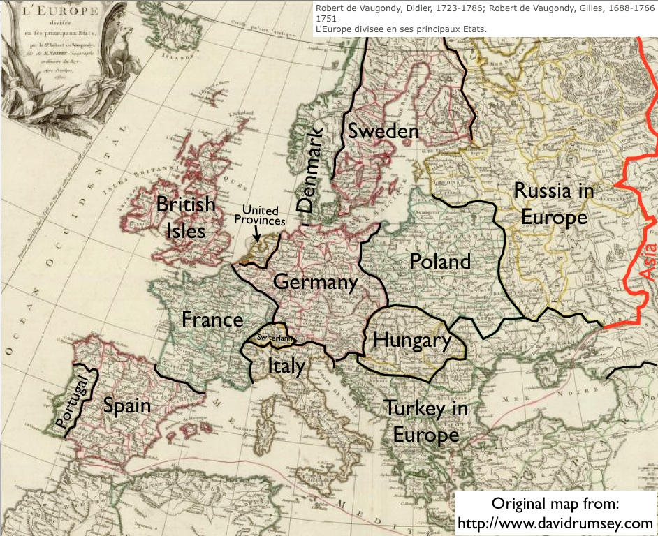 map of europe 18th century Our Maps of the 18th Century—and Theirs | GeoCurrents
