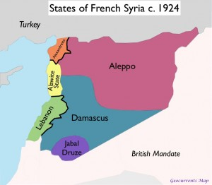 Map of French Syria