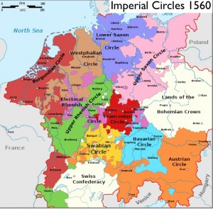 Wikipedia map of Imperial Circles 1560