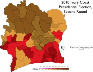 Map of Ivory Coast Election
