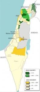Wikipedia Map of Arab Israelis