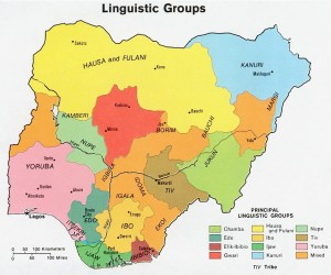 Map of Ethnic Groups in Nigeria
