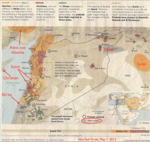New York Times Map of Religious Diversity in Syria