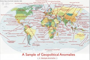 Map of a Selection of Geopolitical Anomalies