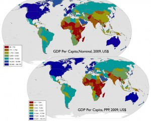Global GDP in PPP and Nominal Terms, State-based Framework
